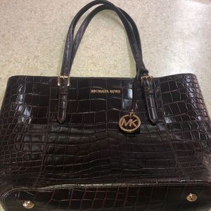 Michael Kors crocodile print purse never used